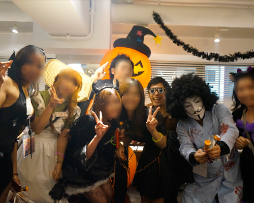 ハロウィンパーティー名古屋集合写真